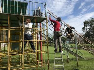 母智丘公園遊具塗装ボランティア活動写真_171003_0037