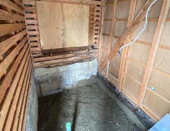 浴室解体完了